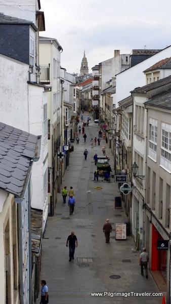 View of the Rúa Nova on the North Side, Lugo, Spain