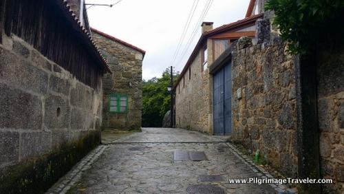 Camino Finisterre through Ponte Maceira, Galicia, Spain