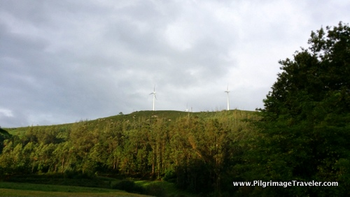 Windmills on the Ridge, Camino Finisterre, Galicia, Spain