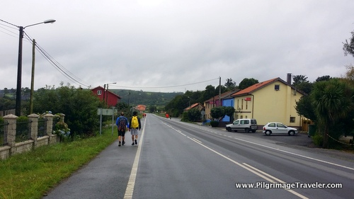 Main Road on the Camino FInisterre