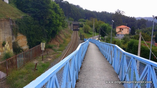 Footbridge over Railroad, Camino Inglés, Miño , Spain