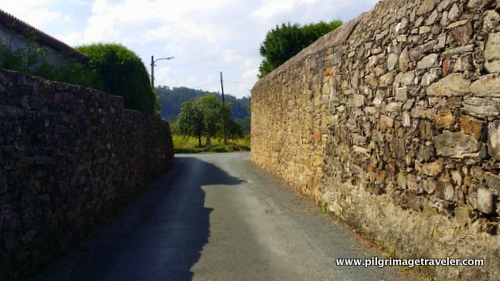 Stone Walls line the Camino Inglés