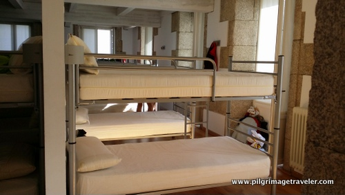 The Dormitory of the Municipal Albergue in Betanzos, Spain