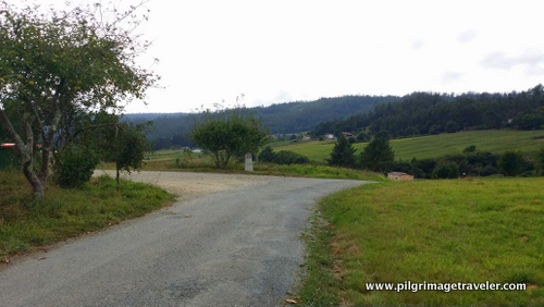 Country Road and Waymark, Camino Inglés, Spain