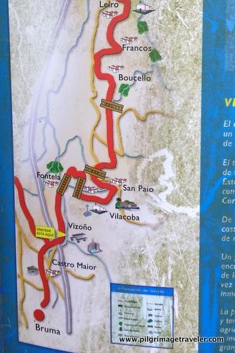 Map of Leiro to Vizoño, Camino Inglés, Spain