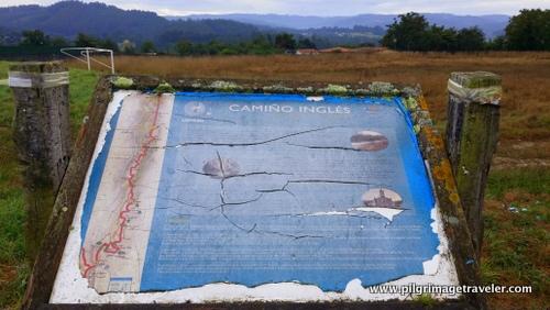 Information Board, Camino Inglés, Spain