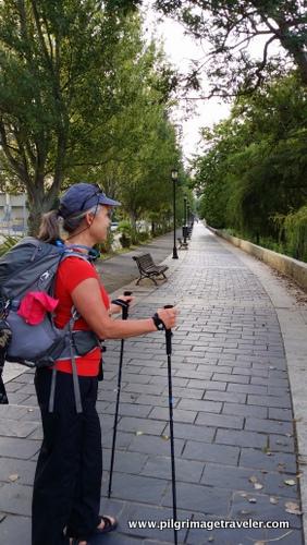 Elle Bieling on the Ferrol Promenade