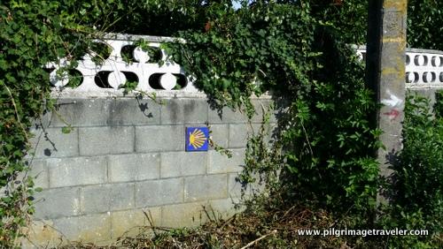 Waymark on a Wall