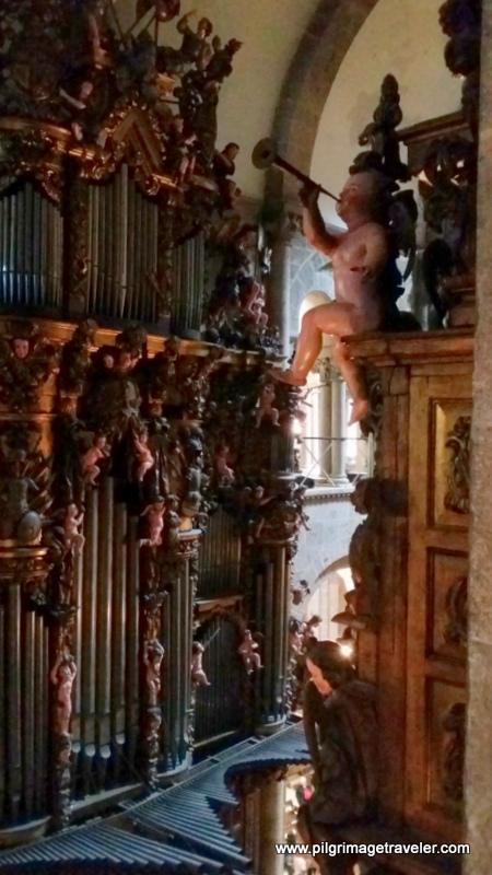 Cherub on Cathedral Organ, Santiago de Compostela, Spain