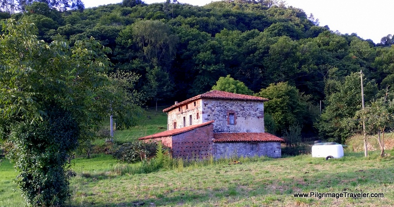 Old, Abandoned Homestead along the Camino Primitivo, on the pilgrimage to Santiago de Compostela, Spain
