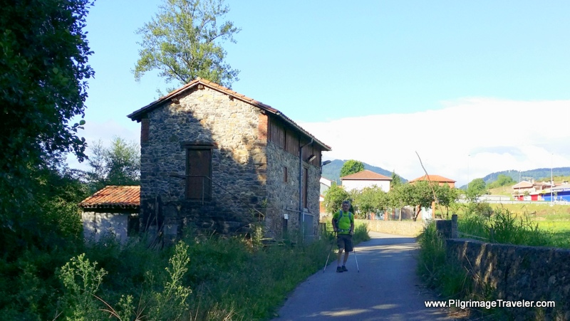 The Way to Casazorrina By a Mill on Day Three Camino Primito