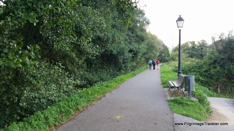 The Original Way on Footpath After the Bridge Into Corellana, Asturias, Spain