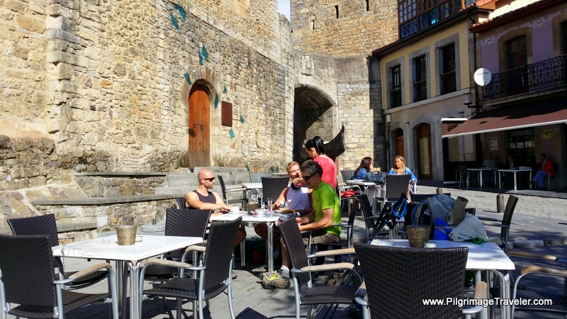 Café Bar in Salas, in the Shadow of the Castle, Original Way, Asturias, Spain