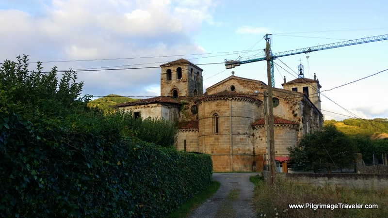 Approaching the Monastery of San Salvador de Cornellana, Asturias, Spain