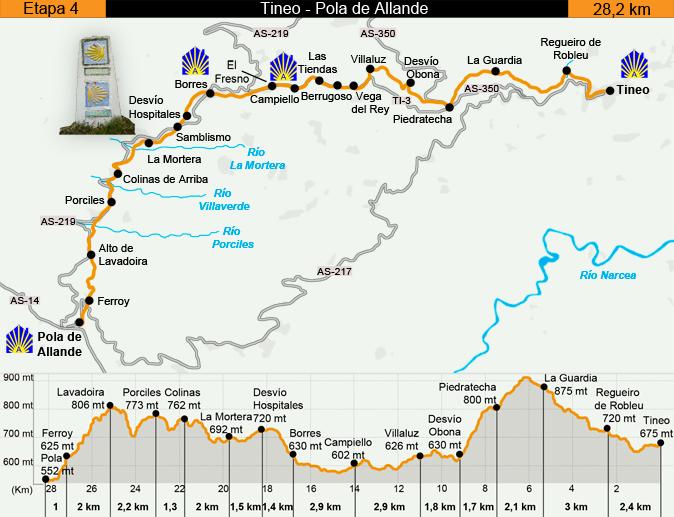 Stage 4 Map from Eroski Consumer, Camino Primitivo