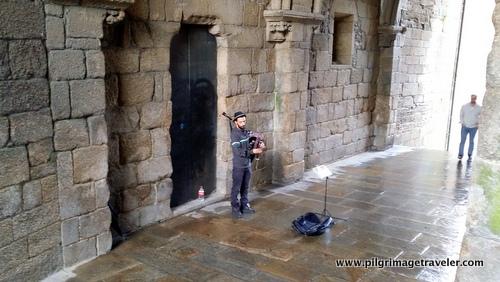 Bagpiper in the Arco de Palacio, Santiago de Compostela