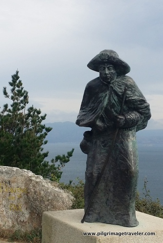 The Pilgrim Statue on the Camino to Finisterre, Spain