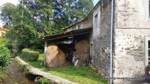 Haystacks in the Historic Mill near Cabañas, Spain
