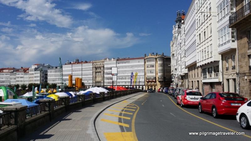 La Avenida de Marina, La Coruña, Galicia, Spain