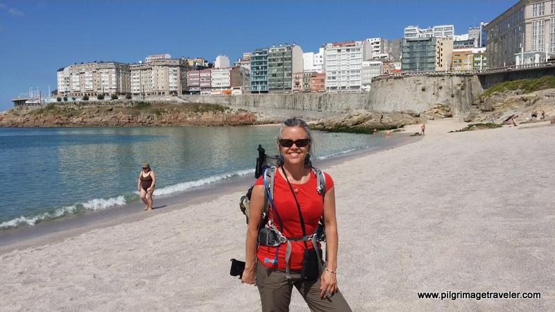 Playa del Orzán, La Coruña, Galicia, Spain