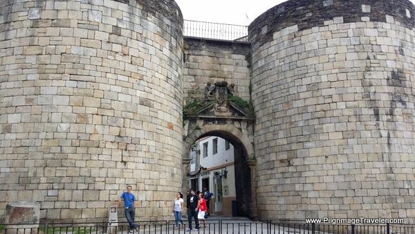 The Pilgrimage Gate Called the Porta de San Pedro ou Toledana in Lugo, Spain