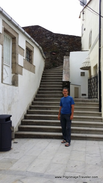 One of Several Stairways Leading to the Wall Path in Lugo, Spain