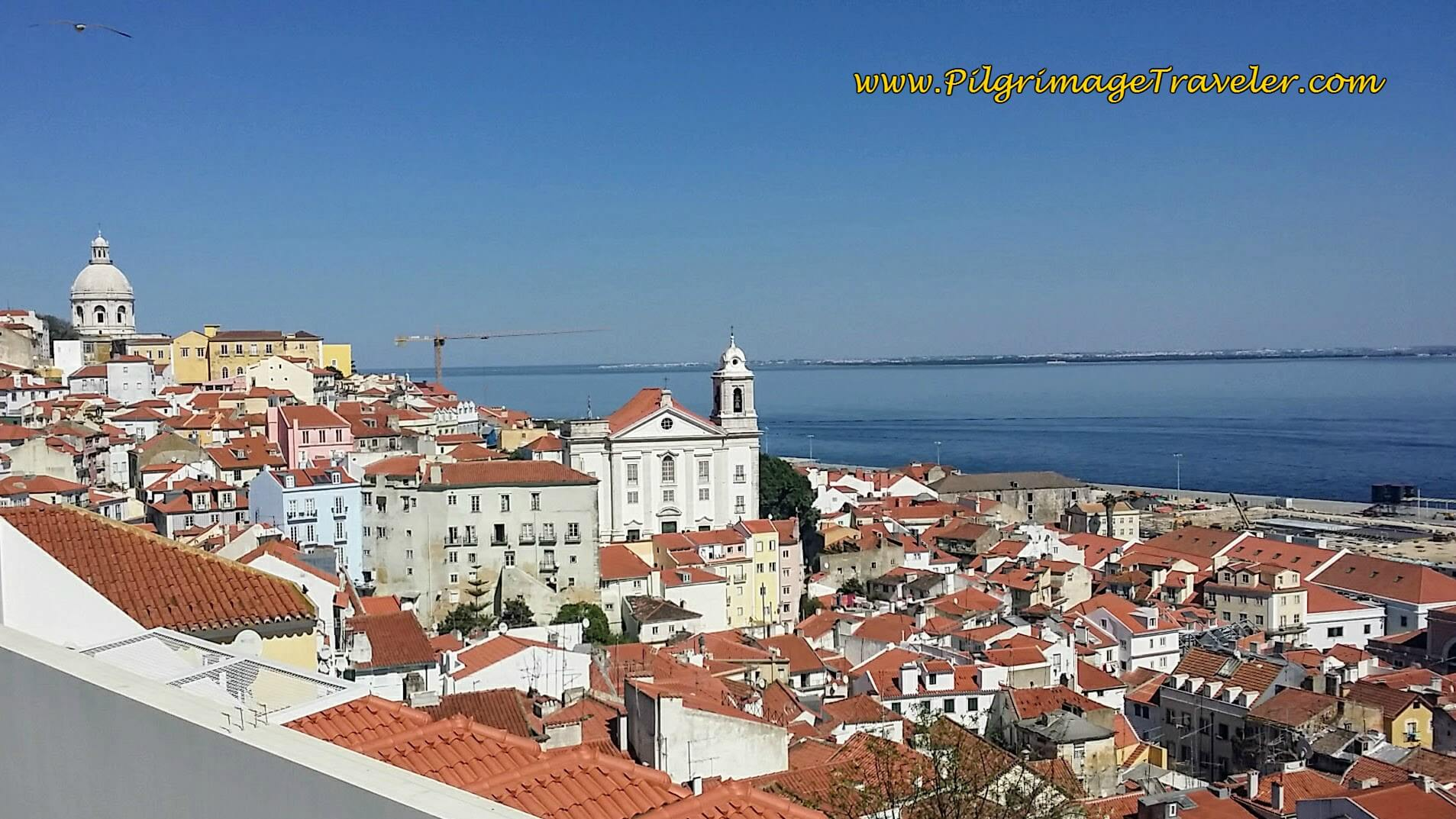 Alfama District, as Seen from the Miradouro de Santa Luzia