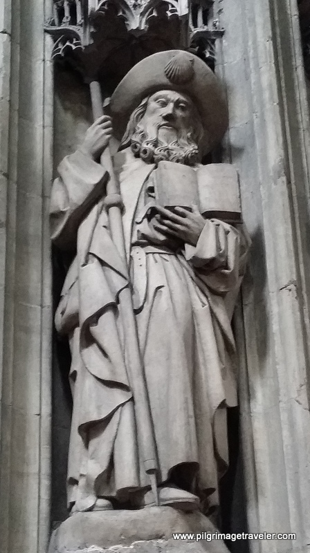 St. James on a Column Post, Cathedral of San Salvador, Oviedo, Spain