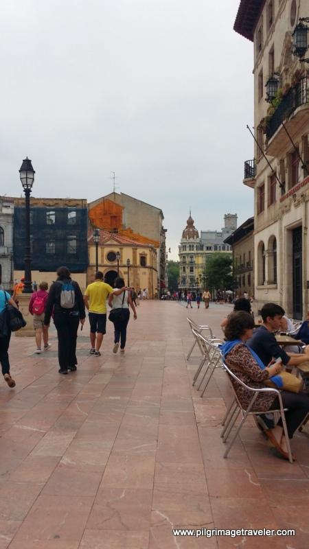Westward View of the Plaza de Alfonso II, El Casto, Oviedo, Spain