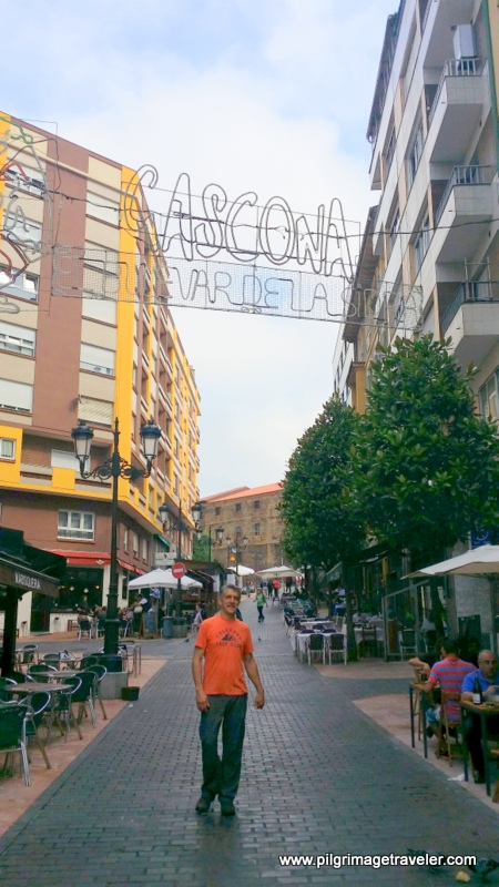 Rich Strolls Down the Famous Cider Boulevard, Oviedo, Spain