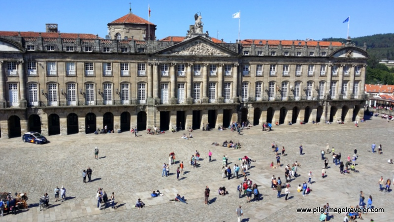 Obradoiro Square from 2nd Floor Balcony of the Cathedral of Santiago de Compostela, Spain