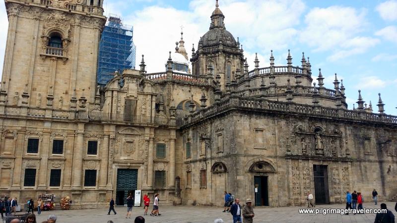 Plaza de la Quintana and the Puerta Santa, Cathedral of Santiago de Compostela, Spain