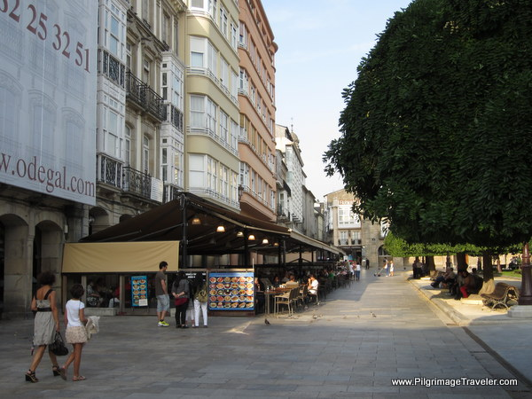 Restaurants Line the North Side of the Praza Maior