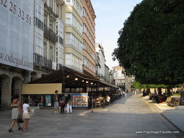 Restaurants Line the North Side of the Praza Maior