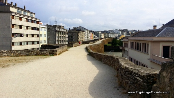The Roman Wall Path in Lugo Spain