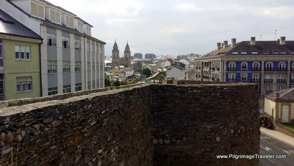 Approaching the Cathedral From the North on the Roman Wall, Lugo Spain
