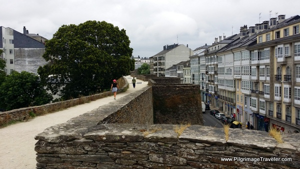The Roman Wall is Used as an Exercise Loop, Lugo, Spain