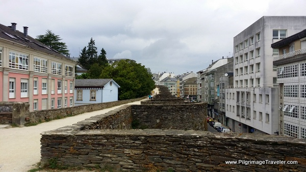Great View of the Wall Fortifications in Lugo Spain