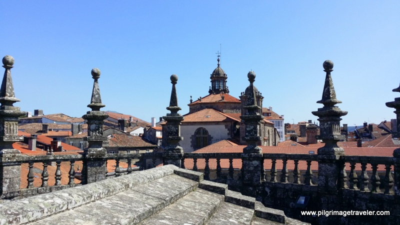 Eastern Rooftop view, cathedral of Santiago de Compostela, Spain
