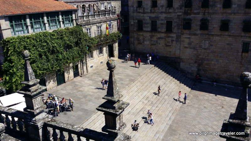 Birds Eye View of the Plaza de Quintana, Santiago de Compostela, Spain