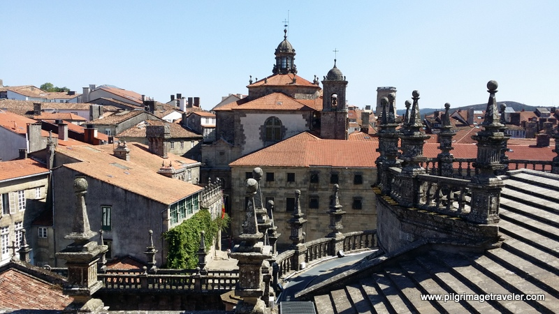 Roof of the Cathedral of Santiago de Compostela, Spain