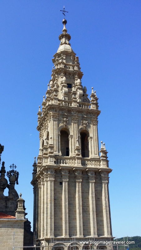The Restored Western Tower, Rooftop of the Cathedral of Santiago de Compostela, Spain