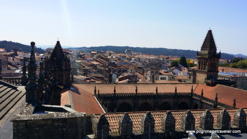 Southern View of the Cloister and the City of Santiago de Compostela, Spain from the Rooftop of the Cathedral