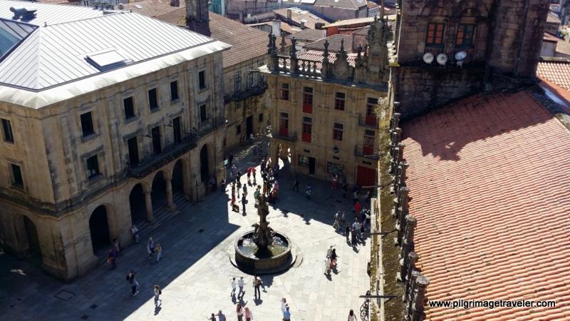 Bird's Eye View of the Plaza de Platerías, Santiago de Compostela, Spain