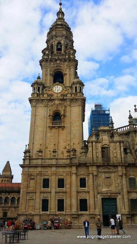 Cathedral Clock Tower, Plaza de la Quintana, Santiago de Compostela