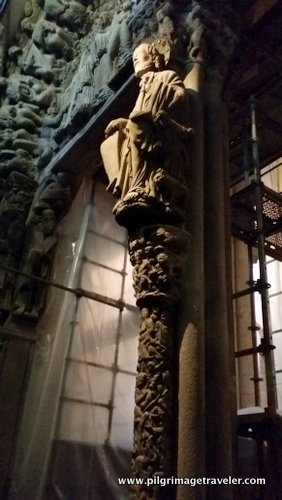 Santiago Atop the Central Mullion, Cathedral of Santiago de Compostela