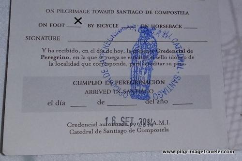 Official Stamp of Santiago de Compostela Cathedral, Spain