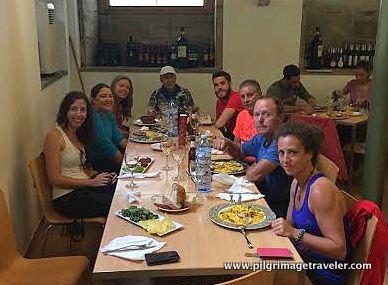 Camino Lunch at Casa Manolo, Santiago de Compostela, Spain
