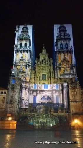 Cathedral of Santiago de Compostela at Night, Spain