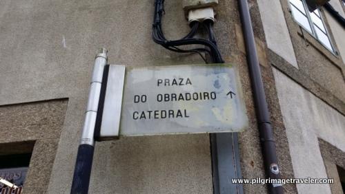 Praza do Obradoiro Sign, Santiago de Compostela, Spain